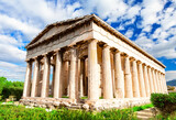 The Famous Hephaistos temple on the Agora in Athens, the capital of Greece.