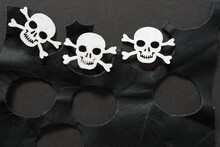 Skull And Crossbones On Leather