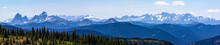 Mt Hozameen And Snowcapped Mountain Range Along Heather Trail, Manning Park, British Columbia, Canada