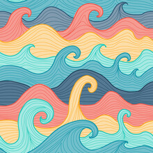 Abstract Sea Background. Seamless Pattern For Your Design
