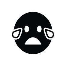 Black Solid Icon For Cry