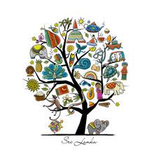 Sri Lanka Travel, Art Tree For Your Design