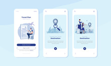 Onboard Mobile Screen With Traveling App Illustration Concept