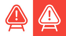 Danger Sign Vector Illustration. Warning Sign With Exclamation Mark Icon