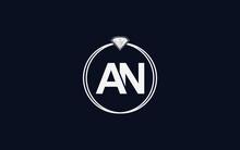Diamond Jewellery Logo Design With AN Letter