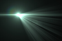 Lens Flare, Abstract Natural Sun Flare On The Black Background, Flare Light Transition, Effects Sunlight