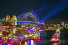 Sydney Harbour Bridge At Night - VIVID