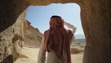 Desert, Mountains, Camels, Sun, Saudi Arabia