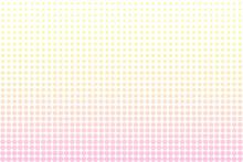 ピンク色と黄色のドット柄グラデーションのアブストラクト背景