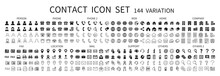 Contact Related Icon Set 144