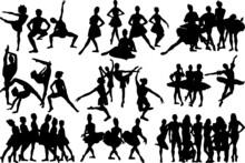 Dancer Team SVG Cut Files | Dancer Team Silhouette | Ballet Dancer Svg | Dancer Svg | Ballerina Svg | Dancer Team Bundle