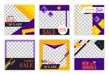 Set Of Sale Banners. Collection Of Graphic Elements For Sale Of Goods. Shop Cards, Decoration Of Things. Warming Up Interest Among Buyers. Flat Vector Illustrations Isolated On Transparent Background