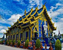 Exterior View Of Wat Rong Seur Ten Temple