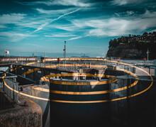 Ring Optical Illusion At Cardiff Barrage