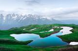 Koruldi lake Caucasus mountains on summer time. Georgia, Upper Svaneti. Landscape photography
