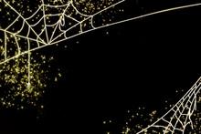 ハロウィンの蜘蛛の巣の背景画像/halloween/ハロウィーン/クモ