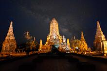 Old Temple Wat Chaiwatthanaram Of Ayuthaya Province( Ayutthaya Historical Park Asia Thailand