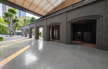 Modern Archways And Tile Floors Form The Space