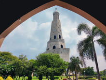29 August, 2021.The Fateh Burj (victory Tower)constructed In The Memory Of Baba Banda Singh Bahadur At Village Chappar Chiri Village, Mohali, Punjab, India.   This 328 Ft Tower Is The Tallest In India