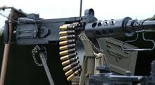 Belt Of Machine Gun Cartridges From World War Two Weapons.