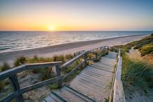 Sunset At The North Sea Coast Near Kampen, Sylt, Schleswig-Holstein, Germany