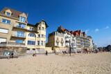 Villas et plage à Wimereux (Hauts de France)
