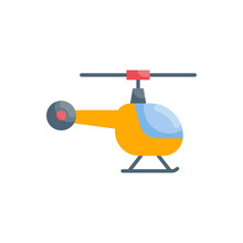 Helicopter Vector Flat Icon Style Illustration. Eps 10 File