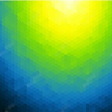 Blue And Green And Yellow Hexagon Background. Polygonal Style. Eps 10