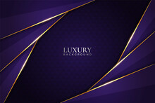 Luxury Background Modern Purple Diagonal Overlapped With Glowing Golden Line Effect