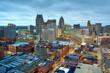 Leinwandbild Motiv Detroit, Michigan, USA Downtown Skyline