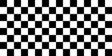 Black And White Geometric Seamless Pattern Of A Chessboard. Empty Chess Board. Vector Illustration.