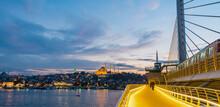 New Galata Bridge In Istanbul