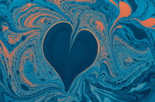 Beautiful Abstract Background With Colorful Paint Splash Textures And A Heart In The Center