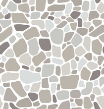 Seamless Pattern Gray  Stone Floor Texture Stonewall Background Vector Illustration