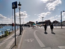 Bike Access To Christianhavn From Central Copenhagen Via Cycle And Pedestrian Bridge