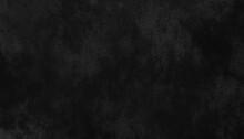 Grunge Dark Gray Chalk Board Texture. Old Vignette Grain Grey And Black Scratched Smeared Horror Wall Background, Monochrome Goth Creepy Design