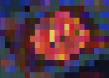 Pixel Scene Spotlight Illustration