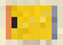 Framed Yellow Pixel Composition