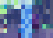 Blue Abstract Pixel Illustration