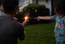 Family Lighting Sparklers