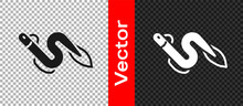 Black Eel Fish Icon Isolated On Transparent Background. Vector