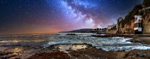 Milky Way Over Pirates Tower At Victoria Beach