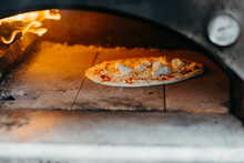 Pizza Oven With Pizza Margherita