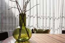 Bulb Vase With Dried Branches