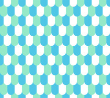 Japanese Overlap Round Fish Scale Vector Seamless Pattern