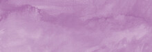 Watercolor Lilac Purple Pastel Colors Paint Stains Hand Drawn With Paper Texture Abstract Background.