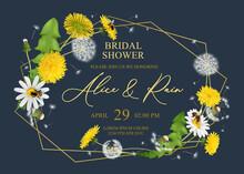 Bridal Shower Frame Composition