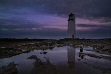 Southerness Lighthouse, Dumfries And Galloway, Scotland.
