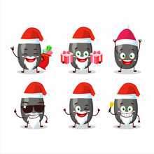 Santa Claus Emoticons With Sunflower Seeds Cartoon Character