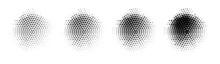 Dot Round Background. Halftone Texture Circle Gradient